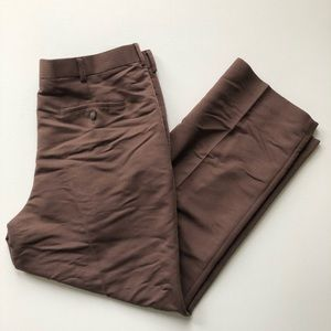 Cubavera Brown Stripe Rayon Blend Dress Pants